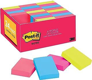 Minibloco Post-it, 3,8 x 5 cm, 24 blocos, notas adesivas favoritas número 1 dos EUA, coleção Cape Town, cores brilhantes (...