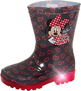 Disney - Zapatillas de nieve para niña de Minnie Mouse luminosas Wellington