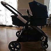 cochecito reclinable en posici/ón acostada hamaca se transforma en capazo f/ácil sistema de plegado color essential black Maxi-Cosi Zelia Carrito beb/é 2 en 1