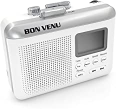 Bon Venu Portable Cassette to MP3 Converter Tape Player – Audio Recorder & Music Player – Built-in LCD Screen & Speaker – Rechargeable – Modern & Sleek Design – Includes TF USB Reader & Earphones