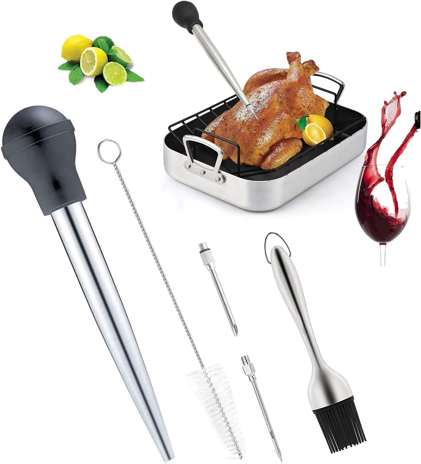 Turkey Cooking Set Tampa Mall Stainless Baster Barbecue with Tulsa Mall I 2 Kit Tool