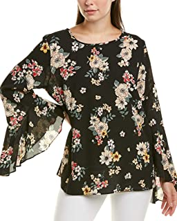 Vince Camuto Women's Long Flared Sleeve Floral Story Blouse
