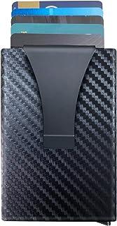 Slim Wallet Mens Carbon Fiber Wallets Minimalist Pop-up...