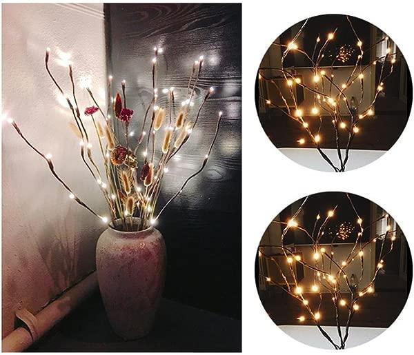 LLguz 创意 20 灯泡 30 英寸暖 LED 柳枝灯花艺灯圣诞节派对情人节家居装饰派对客厅花园装饰婚礼装饰花园装饰