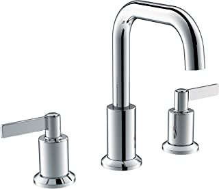 Serenade SWS02-PC Two Handle Widespread Bathroom Faucet with Plastic Pop-Up Drain and Lift Rod, Meets UPC cUPC NSF61-9 and AB1953 Lead Free Standard, Polished Chrome