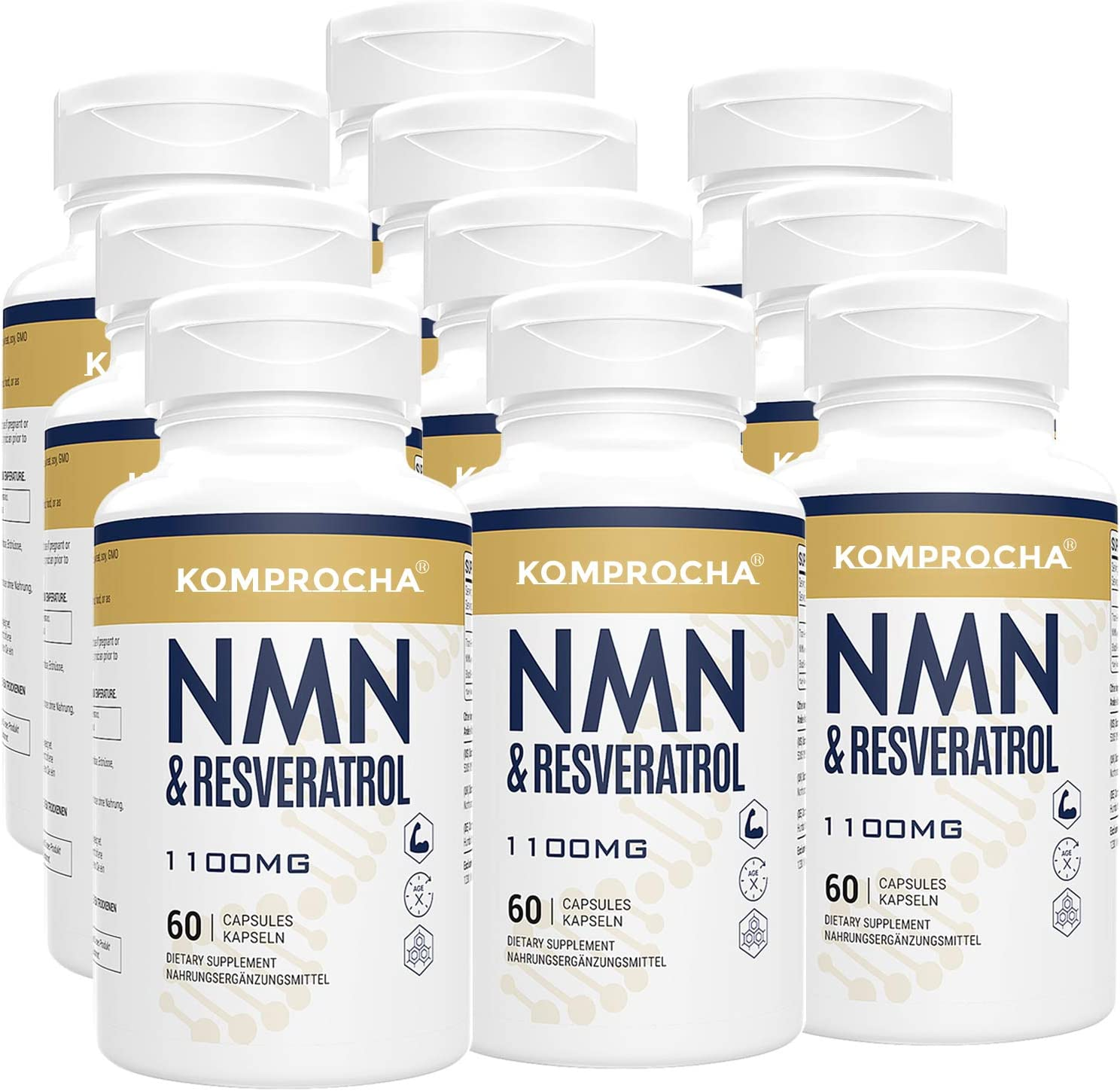 NMN + Trans-Resveratrol 99% Limited time trial price Purity+ 1100mg Max Pepper Black for Miami Mall