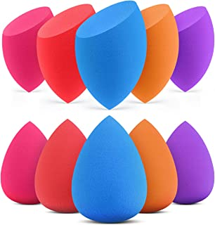 InnoGear 10 Pcs Makeup Sponge Blender Set Beauty Cosmetic Foundation Blending, Flawless for Liquid Cream and Powder, Multi-Purpose Cosmetic Applicator Puff