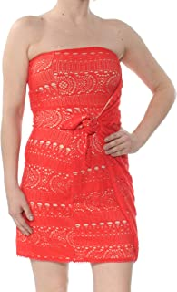 dc9349637a8f3 Free People Womens Strapless Crochet Mini Dress