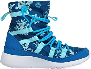 Nike Girl Roshe One Hi Print (GS) Blue Shearing Boots (807744-400) (5.5 Big Kid M, Brigade Blue/BL Lagoon-CP-WHT)