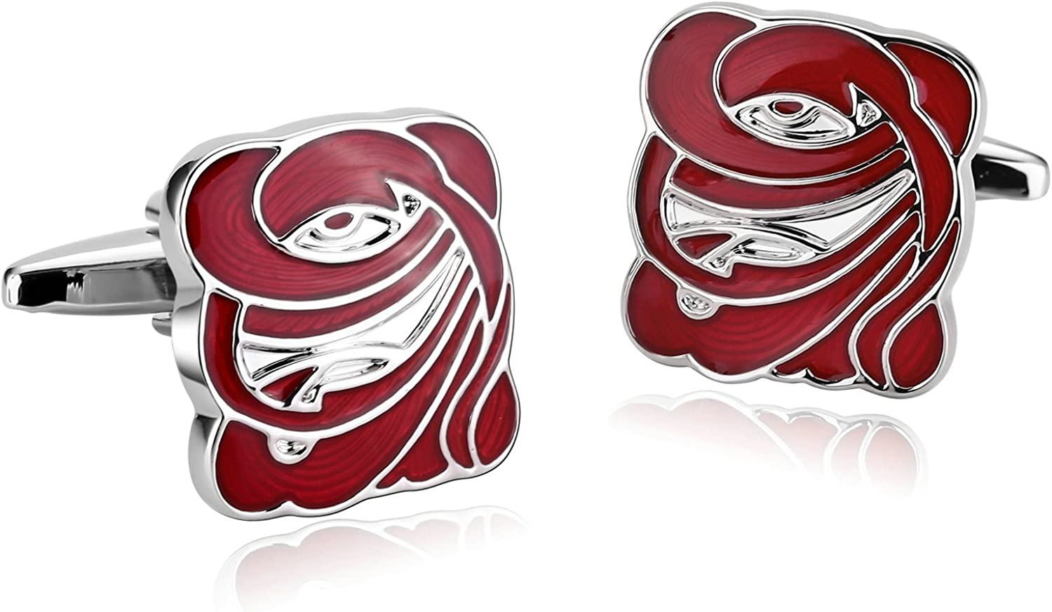 AMDXD Cuff Links Stainless Steel Men Whit Cufflinks for Wedding Shipping included Ranking TOP15