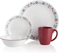 Corelle 16-Piece Dinnerware Set, Nordic Bloom-Made in USA
