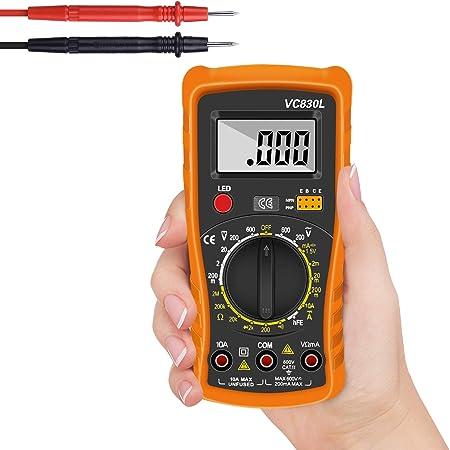 Digital Multimeter Multimeter Voltmeter Ac Dc Multi Tester Digital Multimeter Messgerät Mit Lcd Display Testet Dioden Transistoren Strom Widerstand Multimeter Für Schule Labor Factory Usw Baumarkt