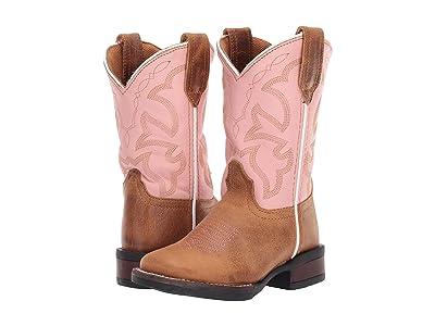 Roper Kids Monterey (Toddler/Little Kid) (Tan Burnished Vamp/Light Pink Shaft) Girls Shoes