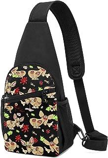 PGTry Zombie Chihuahua Dog On Black Sling Bag - Mochila ligera para el hombro, mochila para el pecho, bolsa cruzada, bolsa...