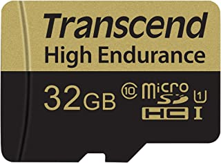 Transcend 32GB High Endurance Microsd Card with Adapter (TS32GUSDHC10V)