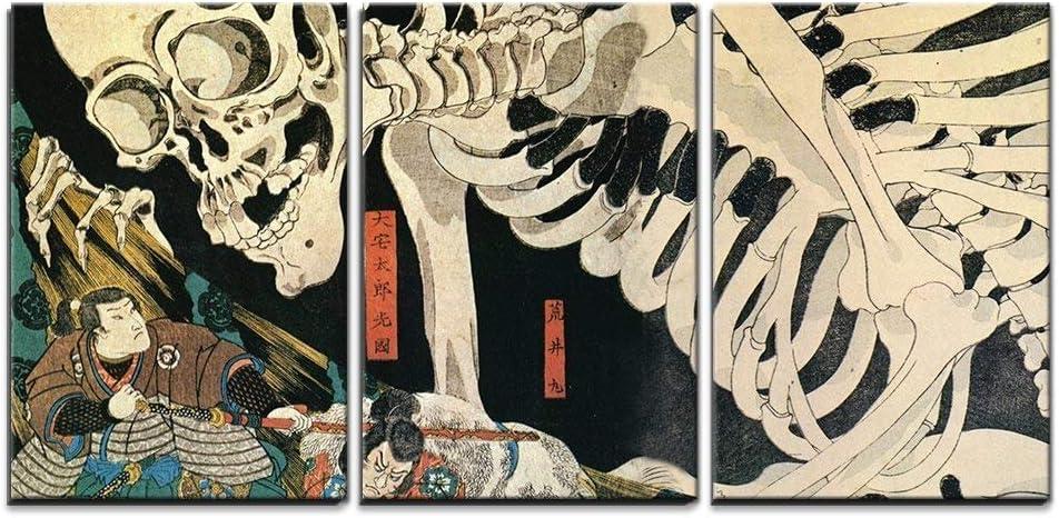 wall26 - 3 Piece Canvas Wall Takiyasha famous Kuniyoshi Utagawa Max 88% OFF Art