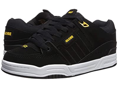 Globe Fusion (Black Action Nubuck/Yellow Synthetic Nubuck) Men