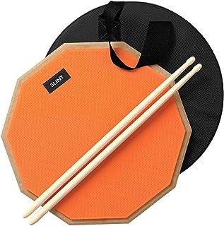 Practice Pad & Drum Sticks Bundle - Drum Pad Double Sided...