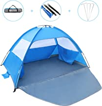 Gorich [2019 New Beach Tent, UV Sun Shelter Lightweight Beach Sun Shade Canopy Cabana Beach Tents Fit 3-4 Person