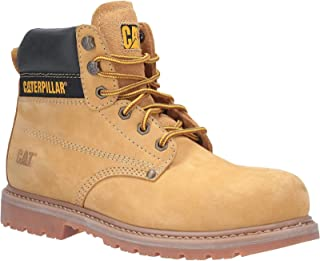 Caterpillar CAT Mens Powerplant GYW Safety Boot in Brown