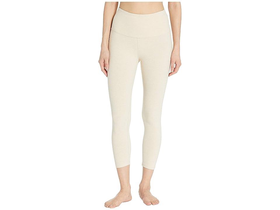 Beyond Yoga Spacedye High-Waisted Capri Leggings (Sandstone/Almond) Women
