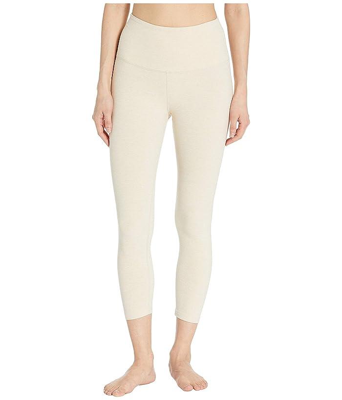 6c73b80d0b7bd6 Beyond Yoga Spacedye High-Waisted Capri Leggings (Sandstone/Almond) Women's  Casual Pants