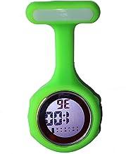 Ellemka sjuksköterska klocka FOB digital display kvarts rörelse silikonrem – JCM-330 mörkgrön tenn presentförpackning