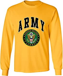 United States Army Long Sleeve T-Shirt Army Crest Patriotic Clothing