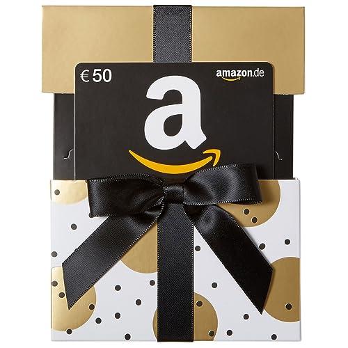 Amazon.de Geschenkkarte in Geschenkkuvert (Gold mit Punkten) - mit kostenloser Lieferung per Post