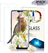 Anzuo [2-Pack] LG G7 ThinQ Screen Protector,[Case Friendly][Anti-Scratch] [HD][Anti-Fingerprint][Anti-Bubble][9H Hardness] Screen Protector Compatible with LG G7 ThinQ