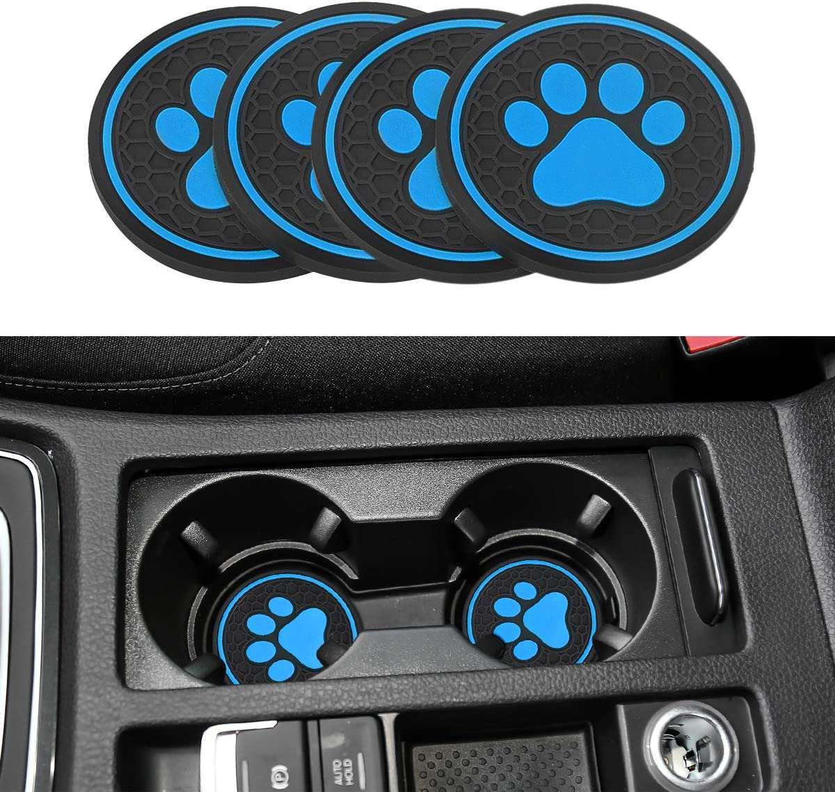 Discount is also underway Universal Fit Dog Paw Cup Holder Coaster D for Cars Pad Mats Beauty products Can