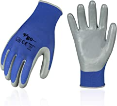 Vgo 10Pairs Nitrile Coating Gardening And Work Gloves (اندازه L، آبی، NT2110)