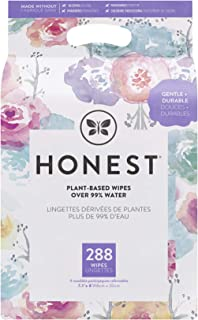 The Honest Company Designer Baby Wipes | Rose Blossom | Over 99 Percent Water | Pure & Gentle | Plant-Based | Fragrance Fr...