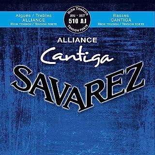 Savarez 656227 - Cuerdas para Guitarra Clásica Alliance Cantiga juego 510AJ Tensión alta, azul