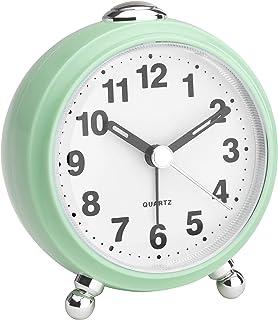 TFA Dostmann Analog väckarklocka, i retroutseende, tyst rörelse, plast, mint, (L) 83 x (B) 53 x (H) 92 mm