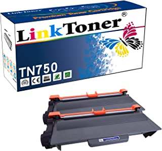 LinkToner TN750 Compatible Toner Cartridge Replacement High Yield for Brother TN-750 BK 2 Pack Laser Printer DCP-8110DN, DCP-8150DN
