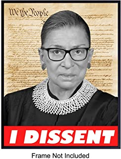 Notorious Ruth Bader Ginsburg Wall Art Print on Dictionary Photo - Ready to Frame (8X10) Vintage Photo - Great Home Decor or RBG Gift For Lawyers or Attorneys