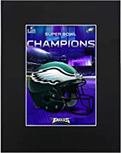 Philadelphia Eagles EAGLES HELMET LOGO NFL Super Bowl Football Team Fans Art Print Picture poster 8x10 Black Matted Artworks Print Paintings Printed Picture Photograph Gift Wall Decor Display USA