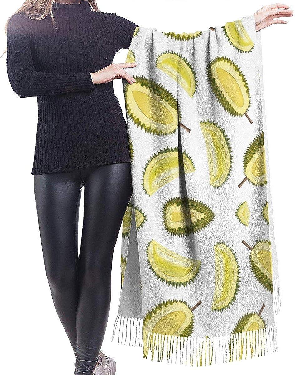 Fruit Durian Pattern Winter Scarf Cashmere Scarves Stylish Shawl Wraps Blanket