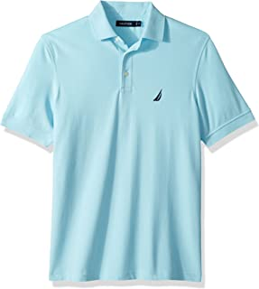 Men's Short Sleeve Solid Stretch Cotton Pique Polo Shirt