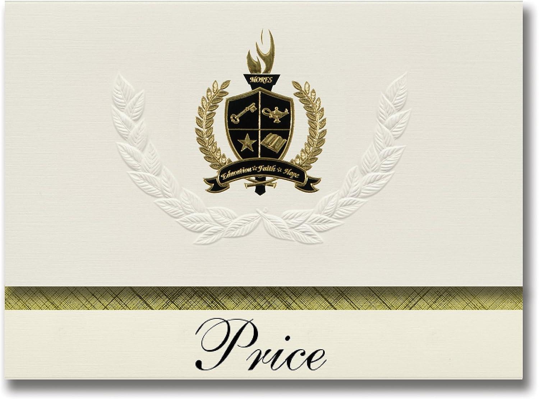 Signature Ankündigungen Preis (Hummelstown, PA) PA) PA) Graduation Ankündigungen, Presidential Stil, Elite Paket 25 Stück mit Gold & Schwarz Metallic Folie Dichtung B078VD181L   Passend In Der Farbe  7bfa4f
