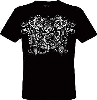 DarkArt-Designs Viking Skull - Camiseta de Viking para hombres y mujeres