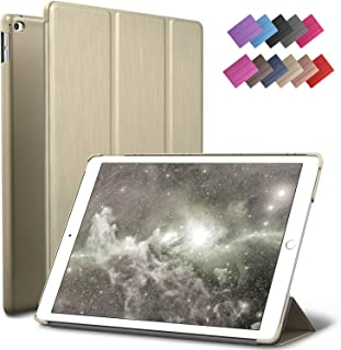 iPad Mini 4 case, ROARTZ Metallic Gold Slim Fit Smart Rubber Coated Folio Case Hard Cover Light-Weight Auto Wake/Sleep for Apple iPad Mini 4th Generation Model A1538/A1550 Retina Display