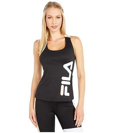 Fila Agda Tank (Black/White/Almost Apricot) Women