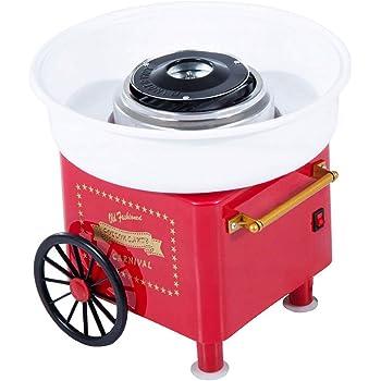 Máquina de algodón de azúcar para el hogar, algodón de azúcar, algodón de azúcar, máquina de algodón de caramelo retro, máquina de algodón de azúcar, máquina de algodón de azúcar: Amazon.es: Hogar