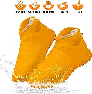 Waterproof Shoe Covers Silicone Shoe Covers Reusable Non-Slip Rain Snow Overshoe Foldable Galoshes Shoe Protectors for Men Women