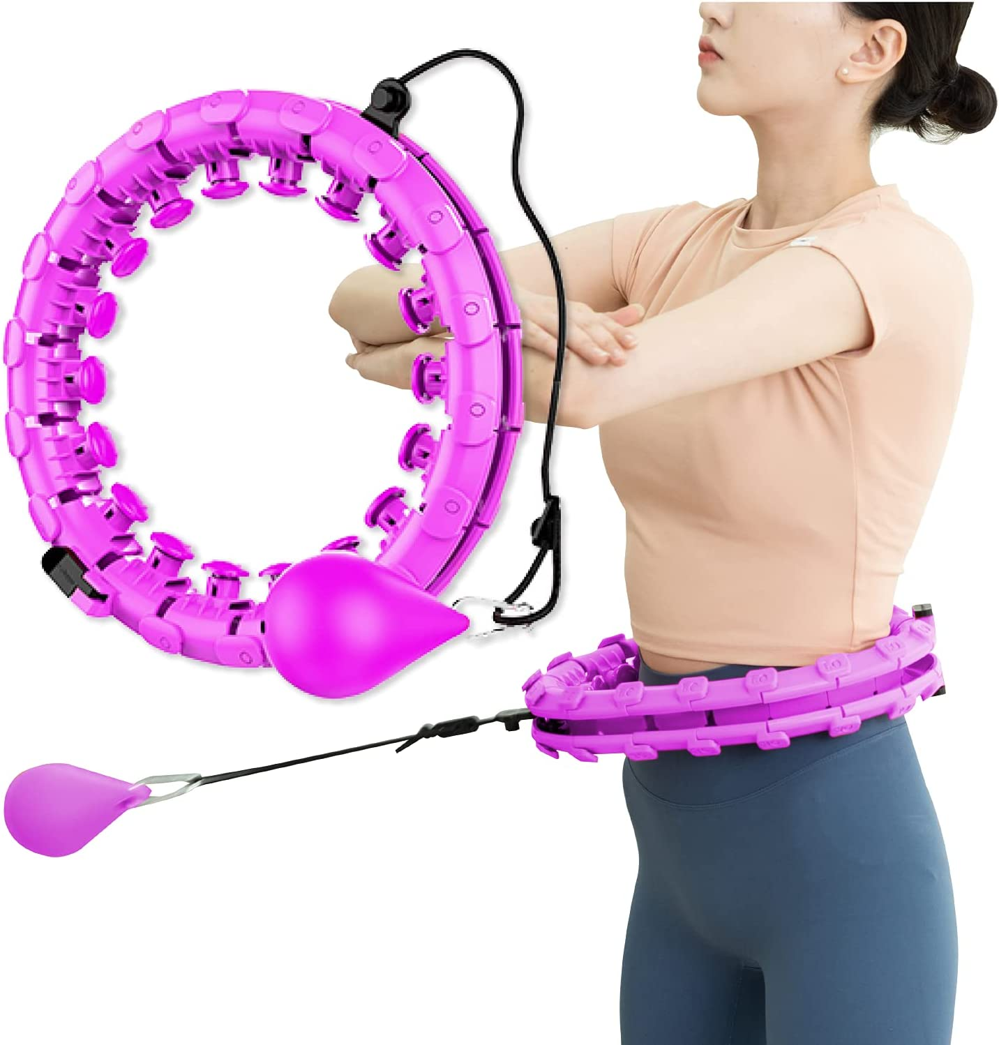 Smart Weighted Hoola Hoop - OFFicial shop 2 Abdomen in Mass 1 New arrival Fitness
