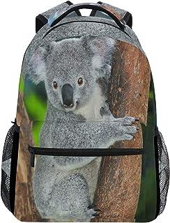 Koala Bear Forest Zoo - Mochila impermeable para el hombro, mochila de gimnasio, árbol de animales, bolsa de viaje al aire libre para niños, niñas, mujeres y hombres
