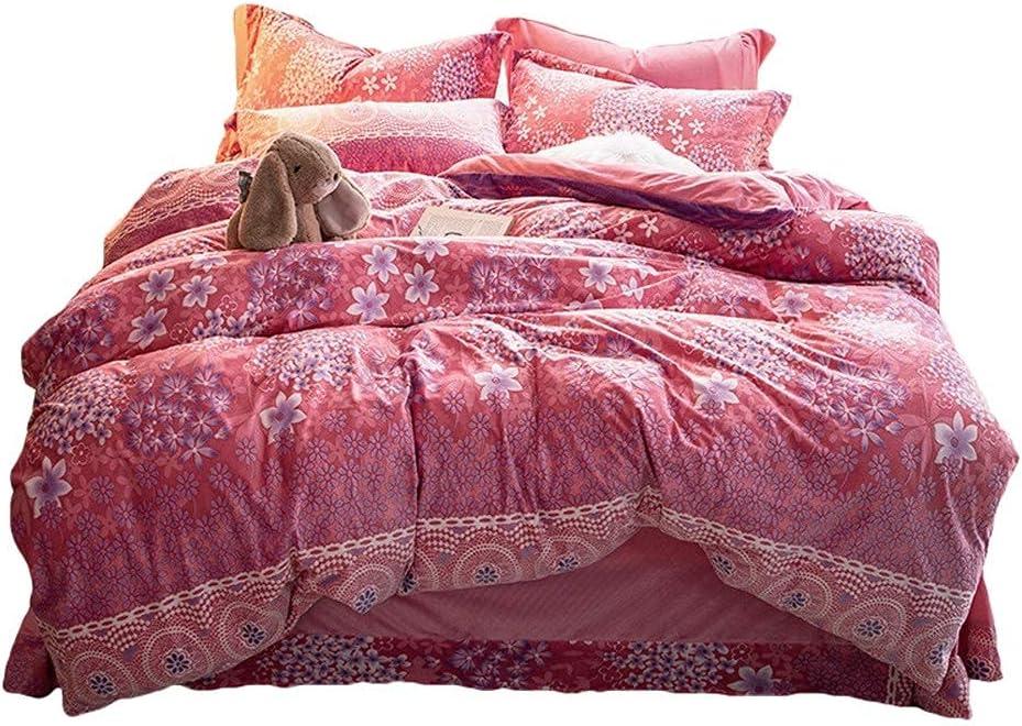 Bedding Set San Francisco Mall Velvet Flannel Winter 4pcs Cover Queen Duvet Mod store