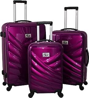 CHARIOT CHP-591 Naples Black 3 Piece Luggage Set